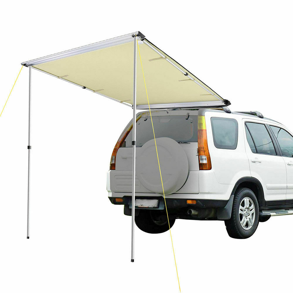6.6x8.2ft Car Side Awning Rooftop Pull Out Tent Sun Shade SUV Outdoor CampingCP