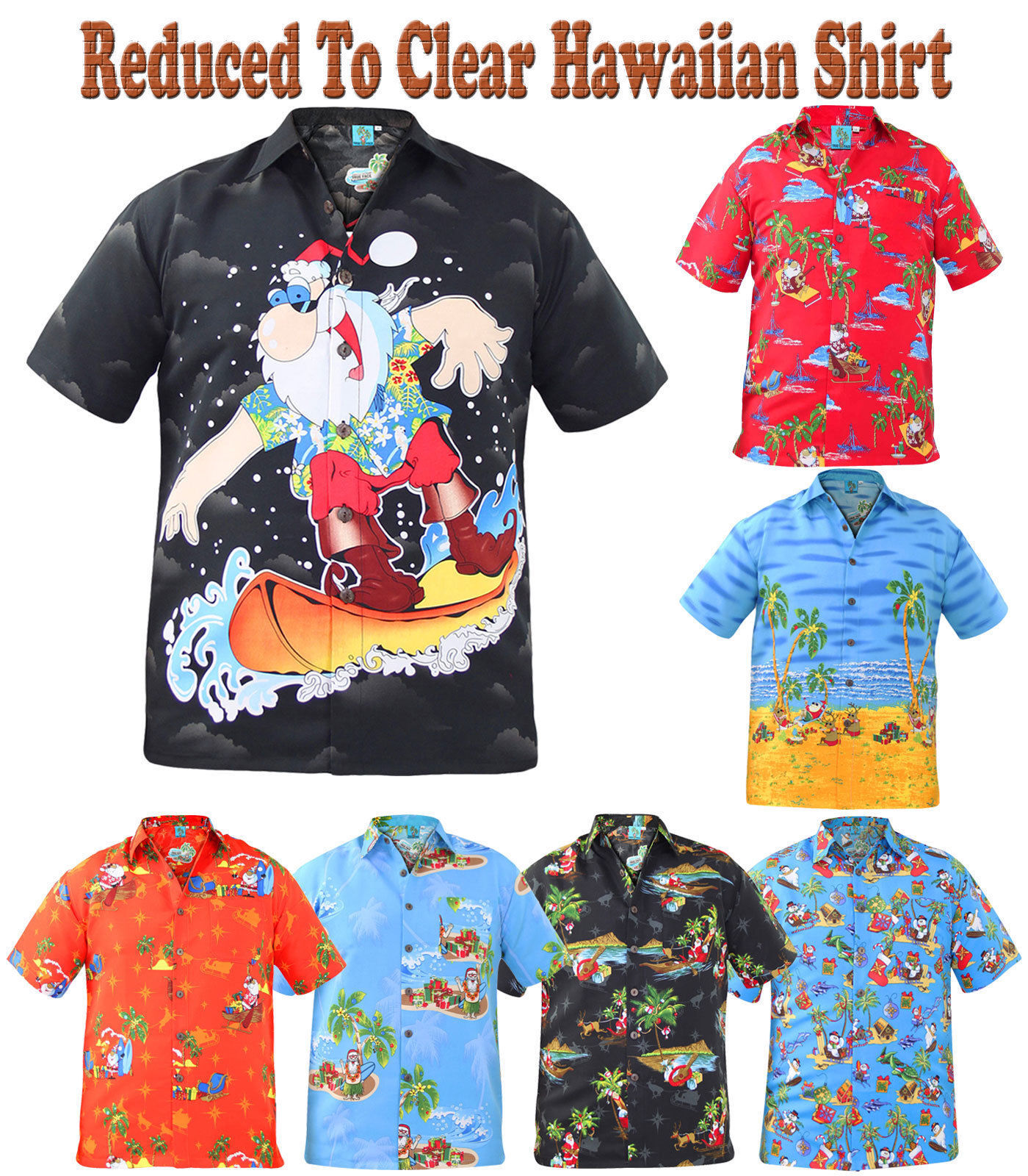 abbc860f8 Christmas Gift Mens True Face Hawaiian Print Polyester Shirt Beach Holiday  Top