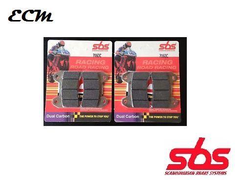 DUCATI 848 2009 (Radial Caliper) SBS FRONT BRAKE PADS - Dual Carbon 706DC