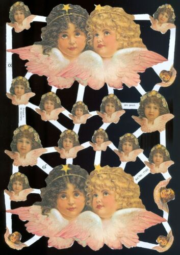 VICTORIAN ANGELS DIE CUT PAPER SCRAPS ef7193 GERMANY