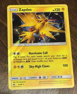 Zapdos Hidden Fates 24/68 Holo Rare NM Pokemon Card