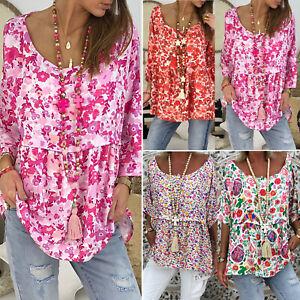 Women-Short-Sleeve-Loose-T-Shirts-Floral-Boho-Casual-Blouse-Tops-Shirt-Plus-Size