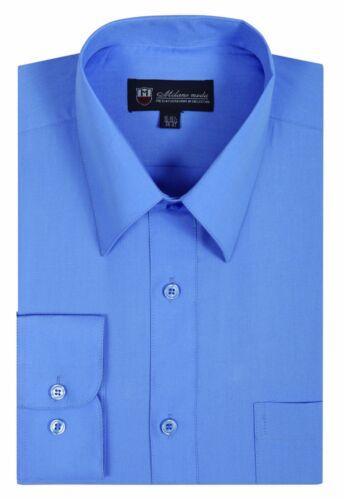 colors by Fortino Landi SG02 Men/'s Cotton Blend Dress Shirt 30