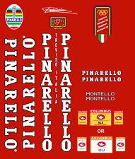 Pinarello montello frame decal set White/Black Contour