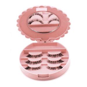 Glamza-Beauty-Makeup-Storage-Tool-Mirror-Case-False-Eyelash-Box-Lashes-Organizer