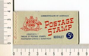 41127) Australia 1962 MNH QEII 5d (x12) n.314A + B Booklet Sg B35 -imperf L & R