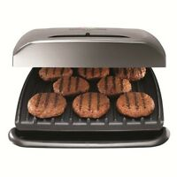 George Foreman 8-serving Classic Plate Grill With Variable Temperature, Platinum on sale