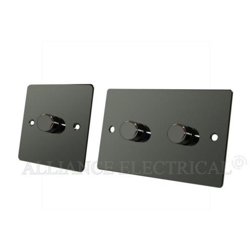 Plat Nickel Noir variateur 1 000 W 10 amp 1 gang 2 Gang 2 Voie variateur d/'intensité