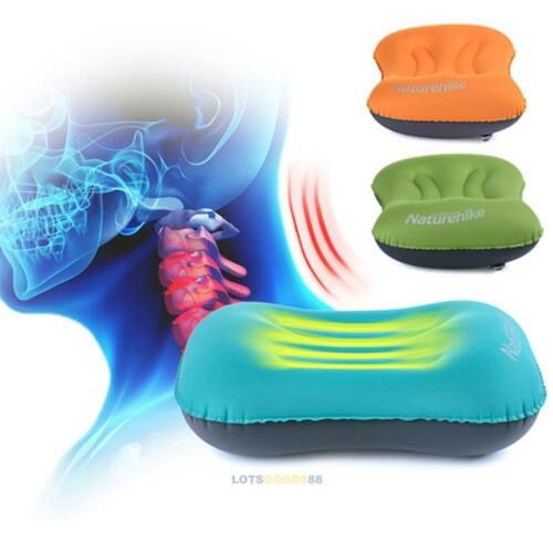Mini Inflatable Air Pillow Bed BlowUp Cushion Travel Hiking Camping Folding