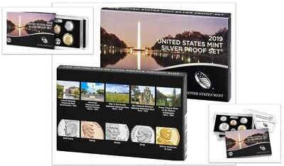 2019 S SILVER PROOF SET UNITED STATES MINT OGP  NO PENNY