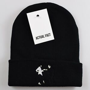 63e4a090d5f Beanie Embroidered Fiction Hat Black Roll Dance Fact Actual Up Pulp 6HIw8P