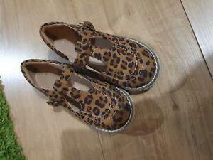Next Leopard Print Chunky T-Bar Shoes