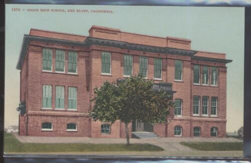 Postcard Red Bluff,CaliforniaCA Union High School view 1907?
