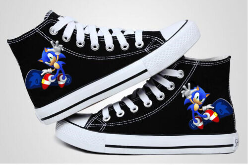 Sonic the Hedgehog Canvas Shoes neutrality Fashion Casual Shoes Black Sneakers