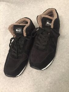 Woolys Black Casual Suede Plush Winter Sneakers Shoes Mens Size 44 Us Size 10 Ebay