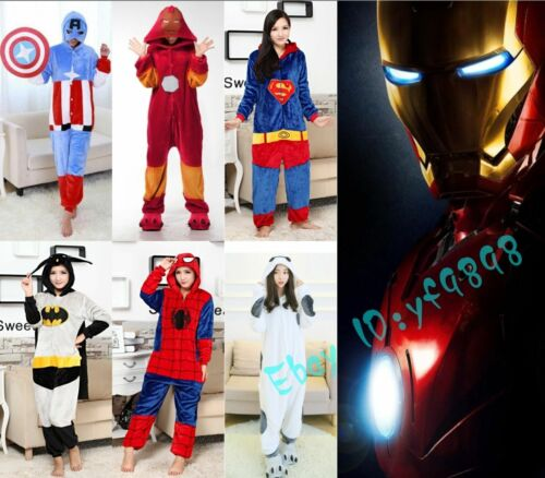 Hot Unisex Adult Pajamas Kigurumi Cosplay Costume Animal  Sleepwear Suit*
