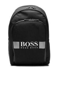 1205ff77898 Image is loading Hugo-Boss-50332710-005-Pixel-Backpack-Black-School-