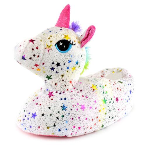 Childrens//Kids Star Unicorn Slippers 540