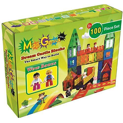 Brand New 2019 Mag-Genius Magnet Tiles 102 Piece Piece Piece Set And All New Magnet Kids 998660
