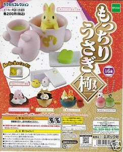 Bathing Rabbits Figure Set Complete 6pcs Epoch Capsule Toy  ^/_^