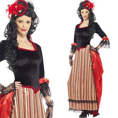 Women's Wild West Saloon Girl Fancy Dress Costume – Western Cowgirl Outfit