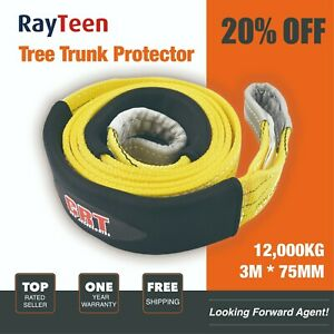 12 TON OFF ROAD 4X4 RECOVERY WINCH TOW SLING ROPE TREE TRUNK PROTECTOR GUARD