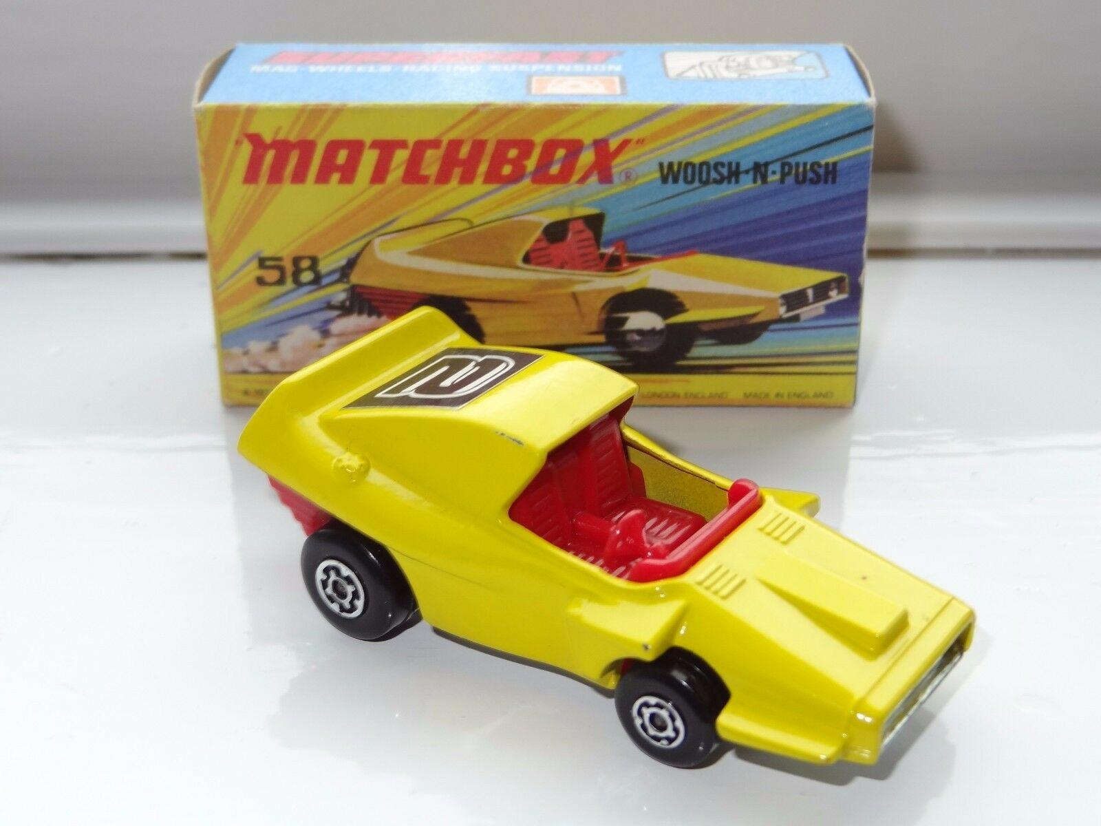 (K) lesney matchbox SUPERFAST WHOOSH N PUSH- 58
