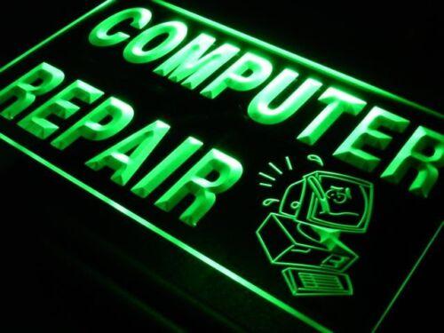 i081-g OPEN Computer Repair Display Shop NEW Light Sign
