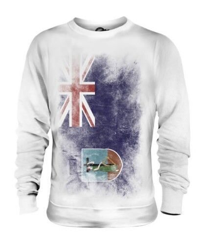 MONTSERRAT FADED FLAG UNISEX SWEATER TOP MONTSERRATIAN SHIRT CLOTHING GIFT