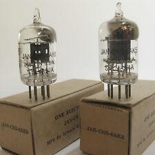 2 matched 1940s Sylvania JAN-CHS-6AK5 (5654,403B,6J1)tubes- Black Plate, Top [ ]