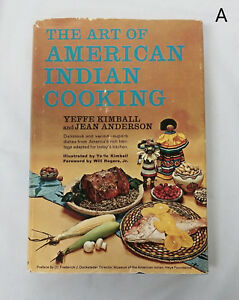 Vintage-1965-1st-Edition-Art-of-American-Indian-Cooking-Yeffe-Kimball-HCDJ