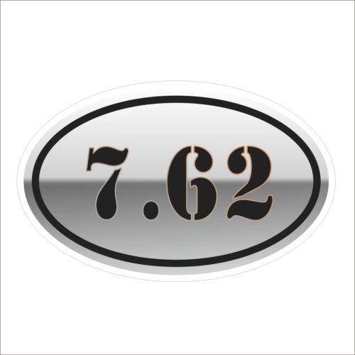 3M Graphics 7.62 Gun 308 Rifle Vinyl Helmet Tool Box Motorcycle Car Sticker