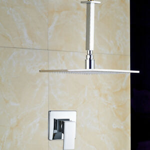 Image Is Loading 12 034 Chrome Rainfall Shower Faucet Ceiling Mount