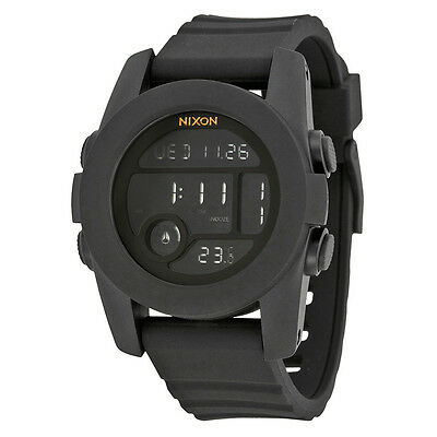 Nixon Unit One Digital Dial Black Silicone Unisex Watch A490001
