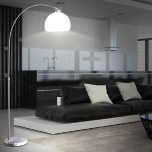 led 9 5 w steh bogen leuchte marmor sockel beleuchtung decken fluter lese lampe ebay. Black Bedroom Furniture Sets. Home Design Ideas