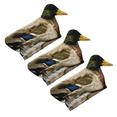 Hunting Duck Decoy Cover Flexible Mallard Sock 3D Pull Photo Realistic Duck Cove