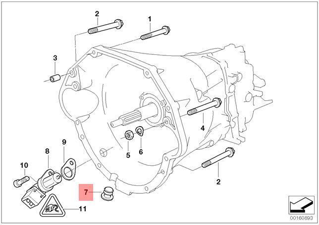 Genuine BMW E31 E32 E34 E38 E39 Sealing Blind Plug D=18MM OEM 23001221853