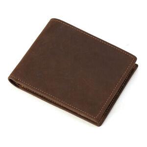 RFID-Schutz-Retro-Herren-Echtleder-Schlank-Brieftasche-Kreditkarten-Geldboerse
