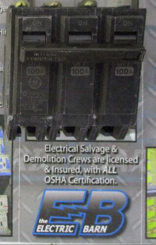 WARRANTY GE THHQB32100 100 AMP 3 POLE 240 VOLT Circuit Breaker