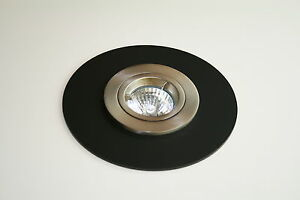 Ceiling light surround matt black custom made ebay image is loading ceiling light surround matt black custom made aloadofball Images