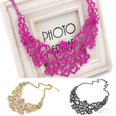 Awesome Womens Vintage Hollow Pendant Bib Choker Necklace Statement Collar Chain