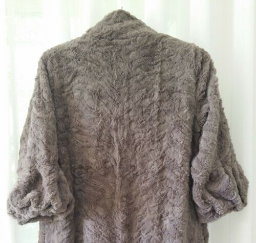 Taupe Bnwt Faux Super Luxury Stunning Soft S Size Fur m Short Jacket TBwxqFO