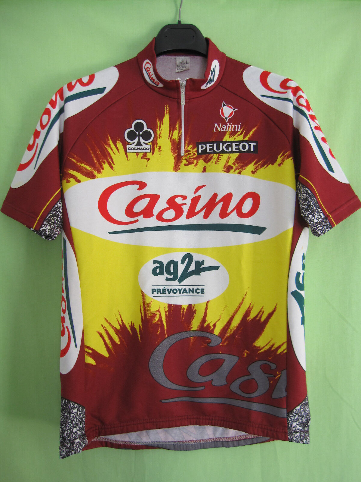 Maillot cycliste Casino Ag2r Tour 1998 Colnago vintage jersey Cycling - 4   L