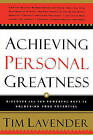 Achieving Personal Greatness by Tim Lavender (Paperback / softback, 2004)
