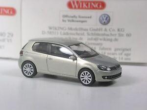 selten-Wiking-Serienmodell-VW-Golf-6-silber-in-OVP