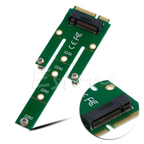 Mini NGFF M.2 B Key SATA-Based SSD to PCI-e mSATA Adapter Card 2230 2242 2260//80