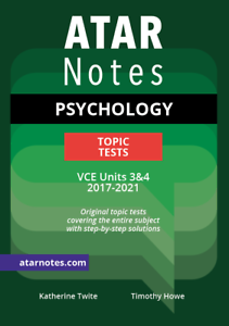 Details about ATAR Notes VCE Psychology Units 3&4 Topic Tests