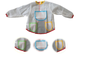 Kids Mess Free Hobby Painting Apron Paint Covering For Kids With Pockets