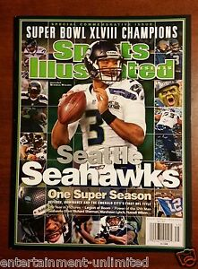 Image is loading NEW-Sports-Illustrated-Seattle-Seahawks-Commemorative-Super -Bowl- 32236f7bb