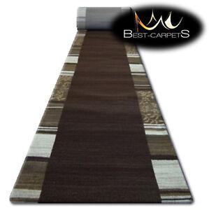Details Sur Chemin De Table Tapis Almira 9500 Marron Moderne Escaliers Largeur 70 Cm 120cm